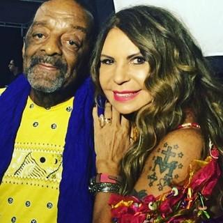 Naná Vasconcelos e Elba Ramalho (Foto: Reprodução/Instagram)