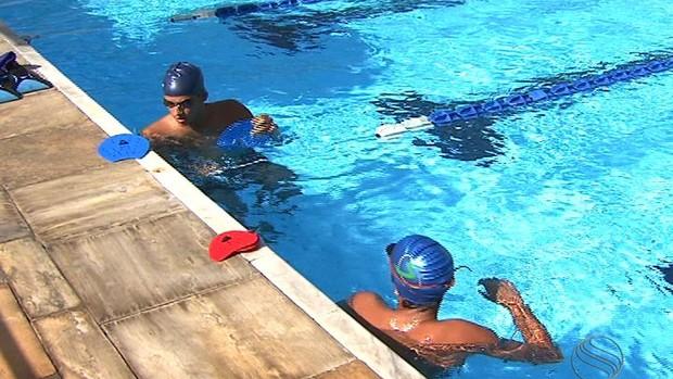 Natação Daniel e Danilo Lima (Foto: Reprodução/TV Sergipe)