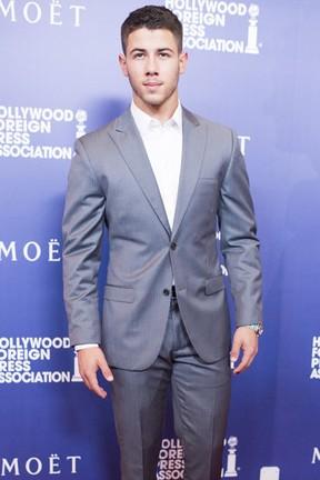 Nick Jonas em evento em Los Angeles, nos Estados Unidos (Foto: Robyn Beck/ AFP)