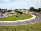 Tráfego está interrompido no 'viaduto do Detran'