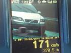 Carro é flagrado a 171 km/h em trecho de rodovia entre Cascavel e Toledo