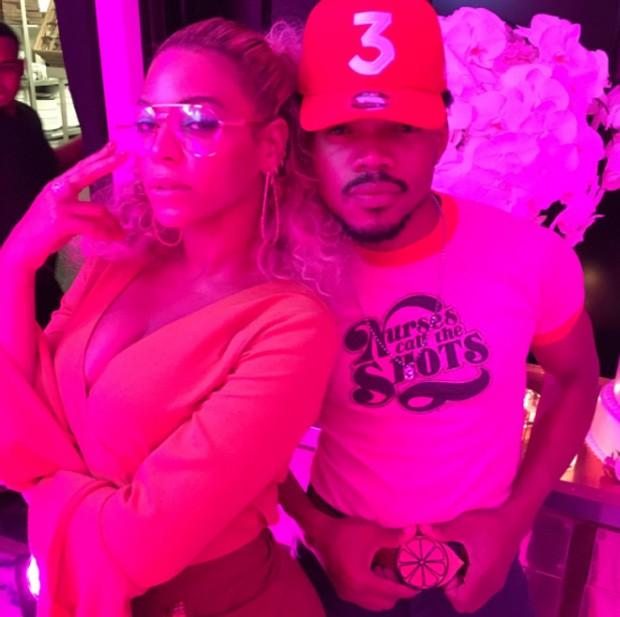 Beyoncé e o rapper Lil Chano (Foto: Reprodução/Instagram)