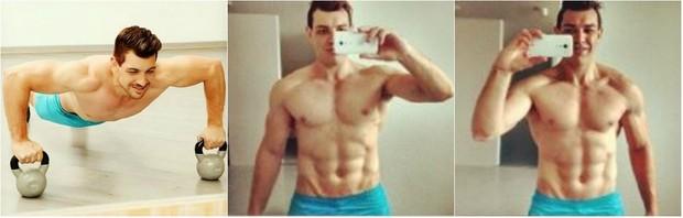 Ex-BBB Cézar Lima fala sobre dieta para definir o abdômen trincado (Foto: Reprodução do Instagram)