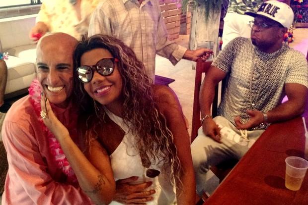Amin Khader na festa de aniversário da MC Ludmilla (Foto: Léo Martinez/EGO)
