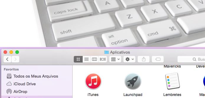 Aprenda como usar o Finder sem tocar no mouse e fique mais ágil (Foto: Reprodução/Edivaldo Brito)