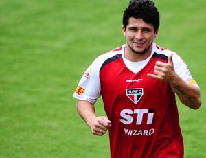 aloisio são paulo treino (Foto: Marcos Ribolli / Globoesporte.com)