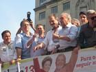 PT e partidos aliados fazem ato de apoio a Dilma no Centro de SP