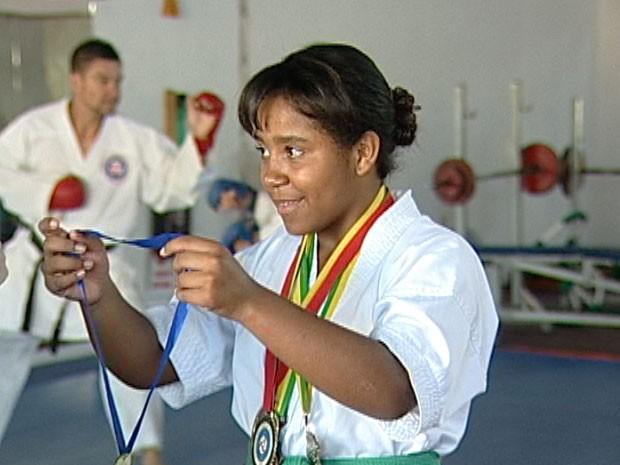 Larissa Gabriela quer buscar o bicampeonato na competição (Foto: Reprodução/TV Integração)