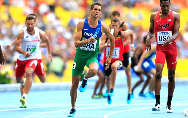 Hugo Souza Mundia Moscou 4x400 (Foto: Getty Images)