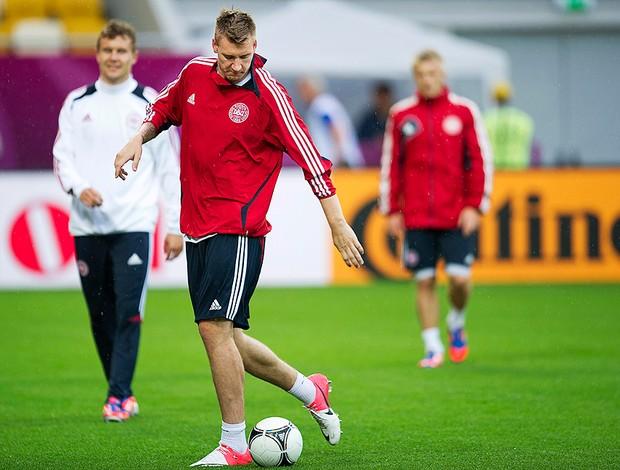 Bendtner, Dinamarca, Eurocopa (Foto: Agência Reuters)