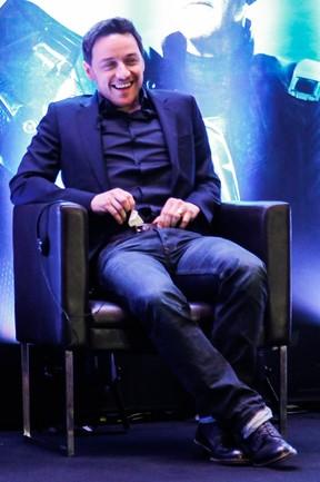James McAvoy mostrando a cueca (Foto: Manuela Scarpa/Photo Rio News)