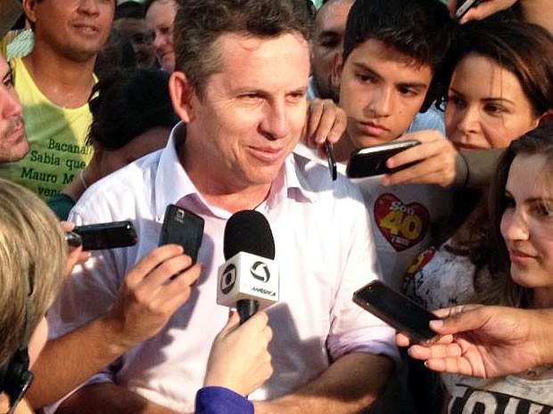 Mauro Mendes é eleito em Cuiabá (Foto: Kelly Martins/G1)