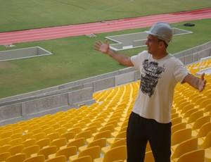 Rodrigo Ramos sonha em jogar no Castelão (Foto: Zeca Soares)
