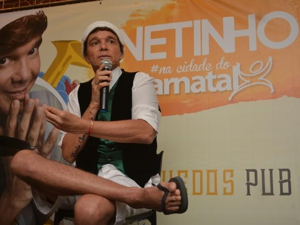Netinho em evento em Natal, Rio Grande do Norte (Foto: Felipe Souto Maior/ EGO)
