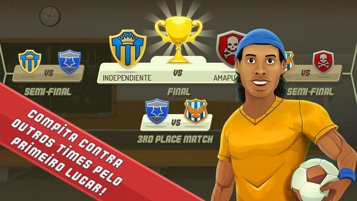 SocceR10 traz Ronaldinho Gaúcho em jogo que mistura estratégia e Futebol (Foto: Divulgação)