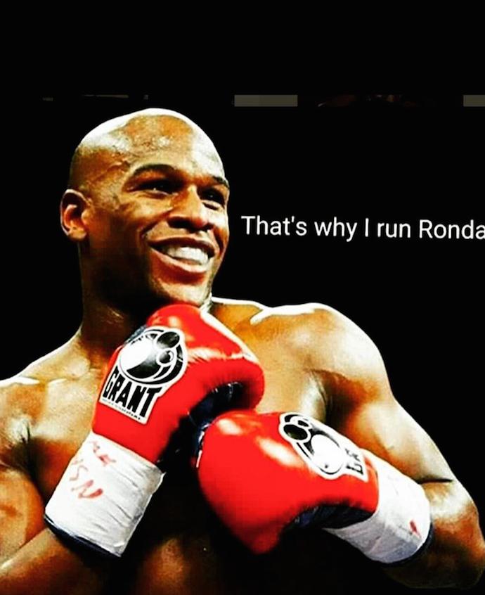 Floyd Mayweather, meme, Ronda