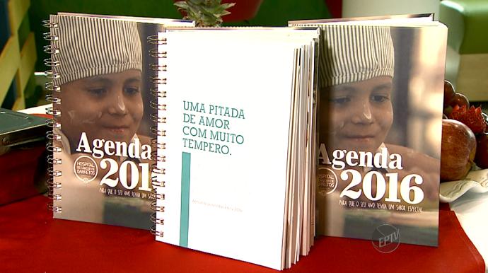 A Agenda 2016 do Hospital de Câncer de Barretos pode ser adquirida doando-se R$ 27,00 (Foto: reprodução EPTV)