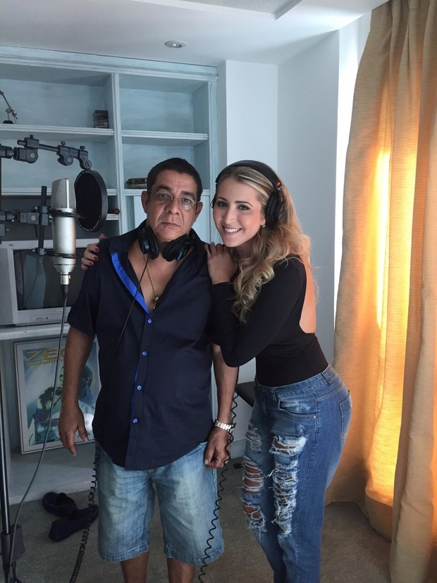 Juliana Pagung com Zeca Pagodinho (Foto: Divulgação)
