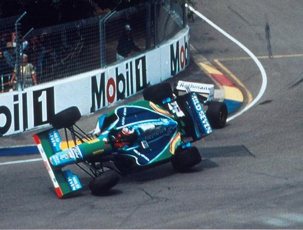 Schumacher Damon Hill Austrália 1994 (Foto: Divulgação)