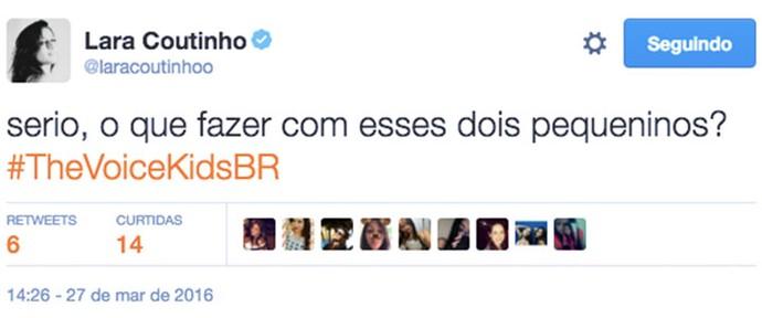 Lara Coutinho (Foto: Reprodução Internet)