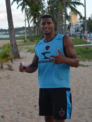 André Lima, zagueiro do Botafogo-PB, Campeonato Paraibano, Paraíba, João Pessoa, (Foto: Amauri Aquino / GloboEsporte.com/pb)