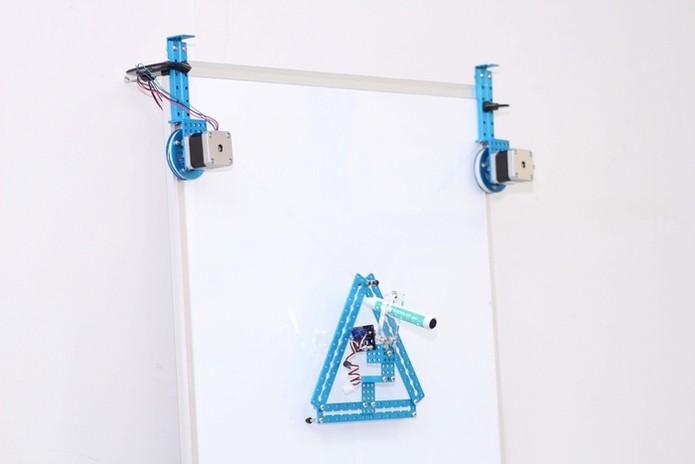 mSpider permite desenhar na parede ou quadro branco (Foto: Divulgação/Kickstarter)