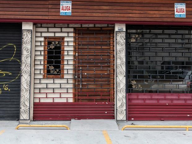crise imóveis fechados em São Caetano (Foto: Marcelo Brandt/G1)