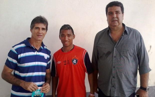 Charles Guerreiro, Ted e Zeca Pirão (Foto: Ascom/Remo)