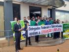 Delegados fazem protesto em apoio à operação Lava Jato no Tocantins