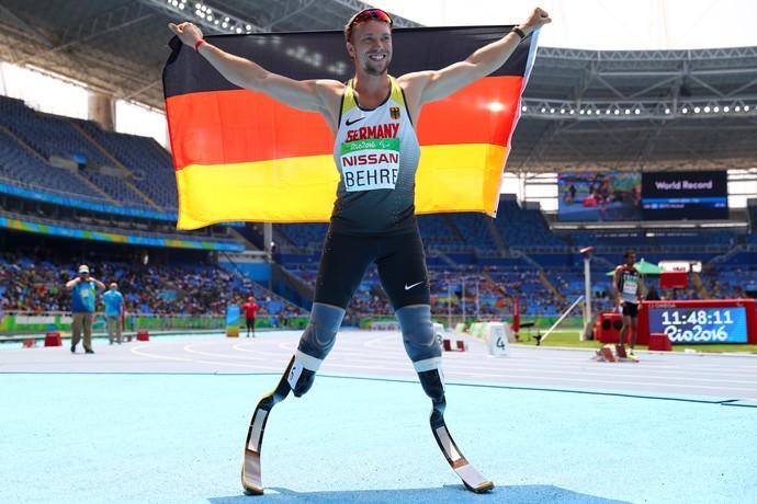 O alemão David Behre venceu a prova dos 400m T44 na Paralimpíada do Rio (Foto: Getty Images)