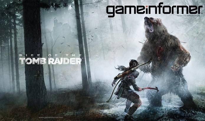 Em Rise of Tomb Raider Lara Croft lutará contra animais como ursos (Foto: Reprodução/GameInformer)
