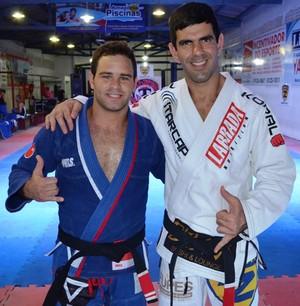 As feras da Zenith que vieram a Roraima, Cesar Luiz e Rodrigo Cavaca (Foto: Tércio Neto/GloboEsporte.com)