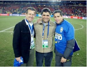 Marcelo Cabo, entre Dunga e Jorginho (Foto: Arquivo pessoal)