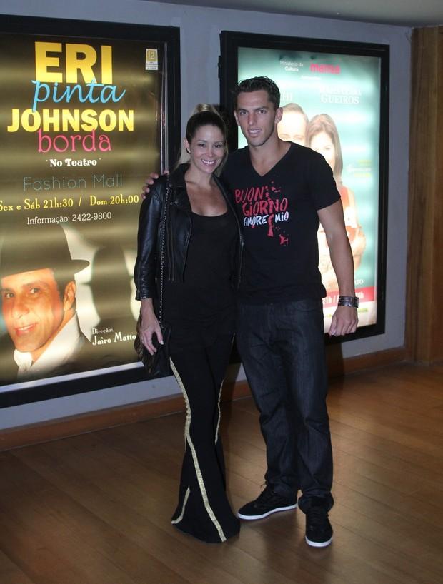 Danielle Winits com o namorado, Amauri Nunes (Foto: Daniel Delmiro/Ag News)