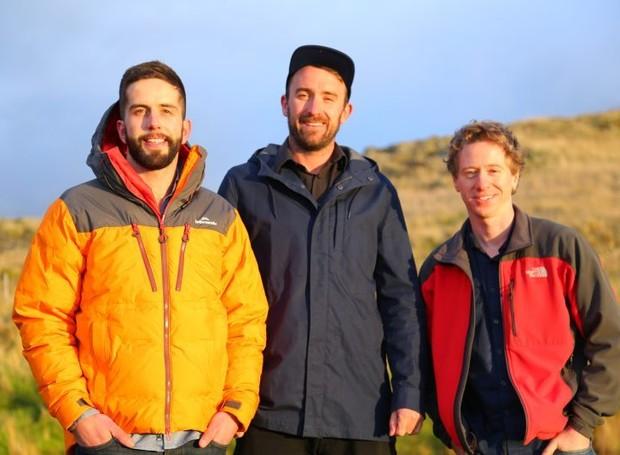 Adrien Taylor, Daniel Price e Jeff Willis, idealizadores do projeto (Foto: Reprodução)