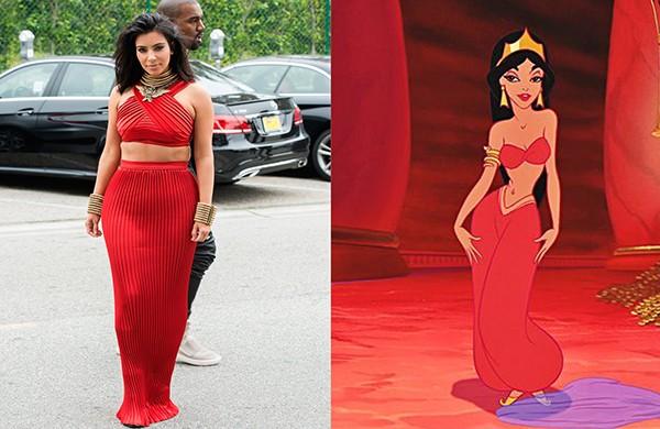 Kim Kardashian como Jasmine (Foto: Getty Images)
