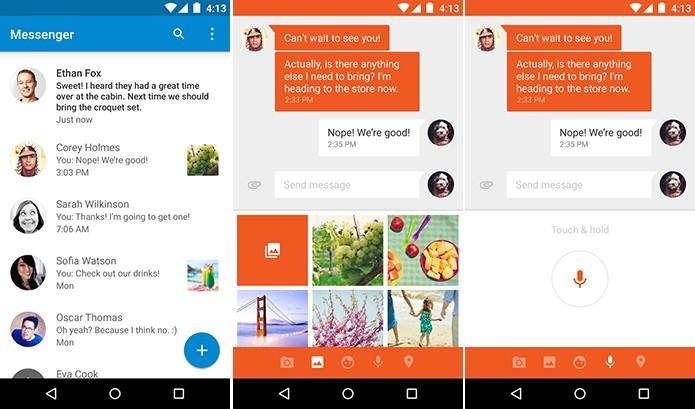Messenger é um cliente de SMS e MMS para Android (Foto: Divulgação/Play Store)