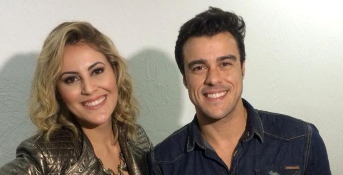 Jessica Leão e o ator Joaquim Lopes (Foto: Reprodução / TV Diário)