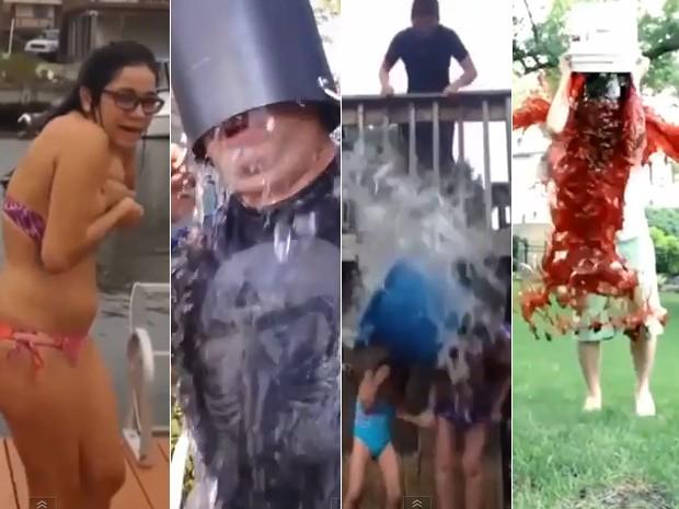 Vídeo compila tombos e erros em desafios do balde de gelo (Foto: Reprodução/YouTube/Daily Vines Compilations)