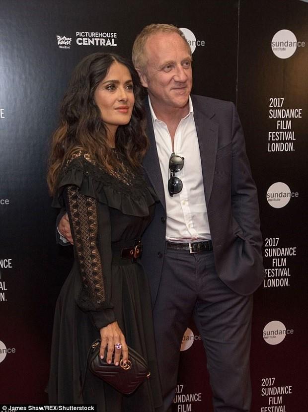 Salma Haykek e o marido François-Henri Pinault (Foto: divulgação)