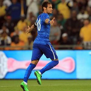 Neymar marca 3, e Brasil goleia a África do Sul por 5 a 0 em amistoso (Themba Hadebe/AP)