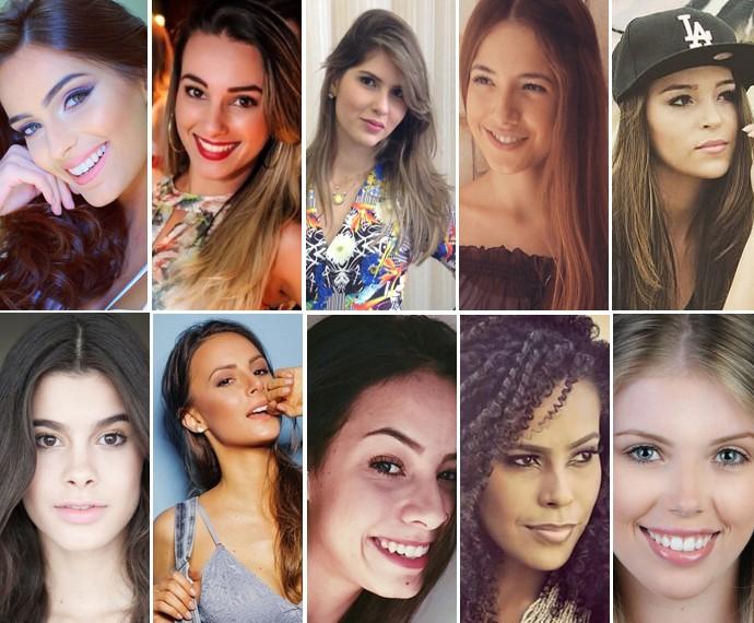 Dez semifinalistas do Garota Totalmente Demais Web (Foto: Arquivo pessoal)