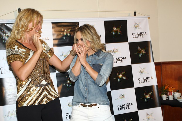 Ana Hickmann e Claudia Leitte antes de show em São Paulo (Foto: Manuela Scarpa/ Foto Rio News)