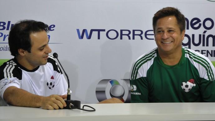 Felipe Massa e Leonardo (Foto: Guilherme Gonçalves/Globoesporte.com)