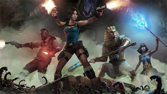 Até quatro jogadores podem entrar no jogo em Lara Croft and the Temple of Osiris (Foto: Divulgação/Square Enix)