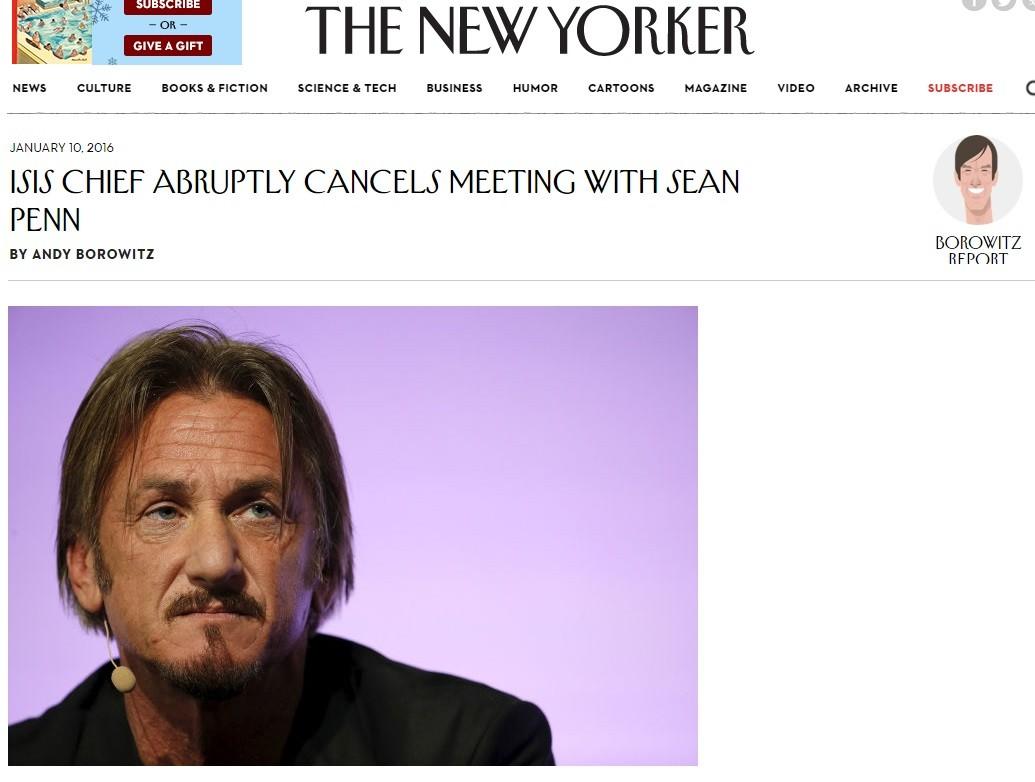 Penn ficou 'desapontado' com o cancelamento