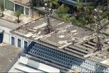 Temporal danifica parte de cobertura das arquibancadas do Joaquinzão