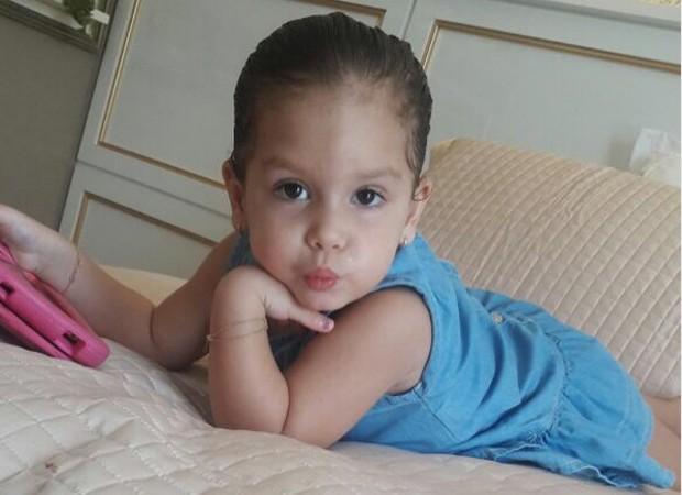 Ysis, filha caçula de Wesley Safadão, completa 3 anos nesta sexta-feira (14) (Foto: Reprodução/Instagram)