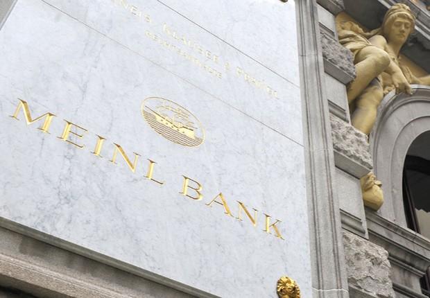 Unidade do Meinl Bank, de Viena : filial desativada pode ter sido comprada pela Odebrecht para esquema de propinas (Foto: Getty Images/Arquivo)