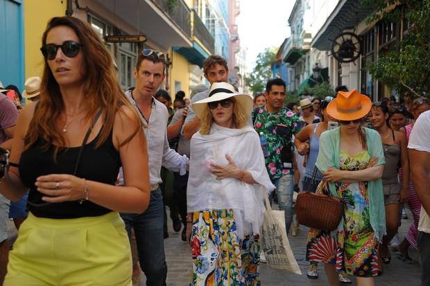 Madonna em Cuba (Foto: YAMIL LAGE / AFP)